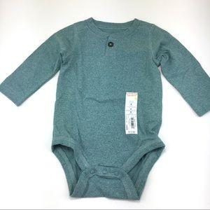 Jumping Beans Henley L/S Bodysuit Size 6 Months